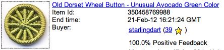 Dorset button ebay transaction